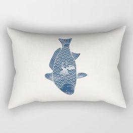 Fishing in a fish 2 Rectangular Pillow