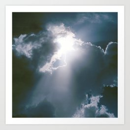 Sunburst of Light Parting the Clouds Art Print