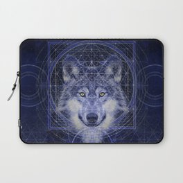 Wolf Geometry Laptop Sleeve