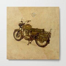 Old Brown Ducati, classic vintage motorcycle Metal Print