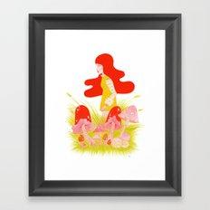 Toadstool Valley Framed Art Print