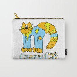 Crazy Cat Orange Carry-All Pouch