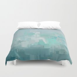 Cool Ocean Breeze Abstract Expressions Duvet Cover
