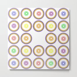Pride Circle Pattern #2, Bingo Metal Print