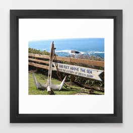 Where the History of Oregon Began Framed Art Print
