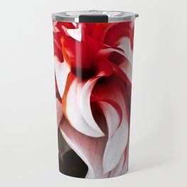 Red And White Dahlia Travel Mug