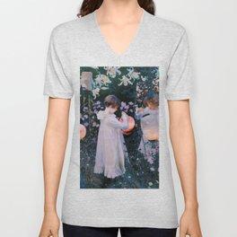 Carnation, Lily, Lily, Rose - John Singer Sargent Unisex V-Neck