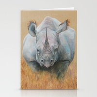 rhino Stationery Cards featuring RHINO by Canisart