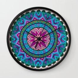Meditation Mandala Wall Clock