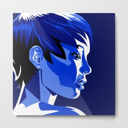 Blue Shadow Metal Print