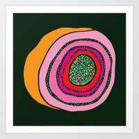geode Art Prints featuring Geode  by Steph Walker