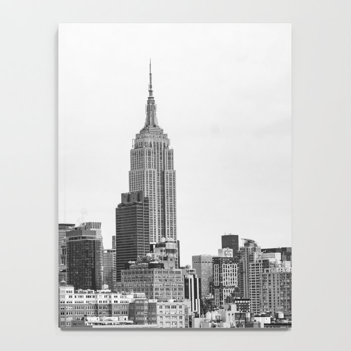 The New York Cityscape City (Black and White) Notebook