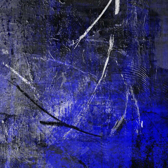 In The Dead Of Night - Textured Abstract In Blue, Black and White Comforters