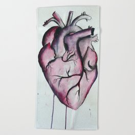 Anatomical Heart Beach Towel