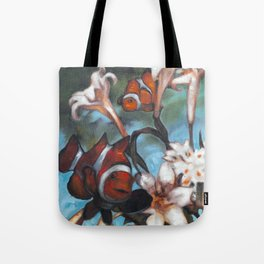 Clown Lillies Tote Bag