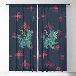 FOO DRAGON ON NAVY Blackout Curtain
