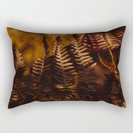 Autumn Fern Tree Leaf Brown Coffee Color Rectangular Pillow