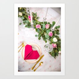 Be my valentine Art Print