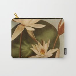 Vintage Water Lily Carry-All Pouch
