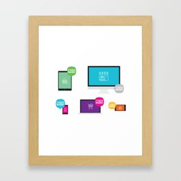 Cyber Monday Orders Framed Art Print