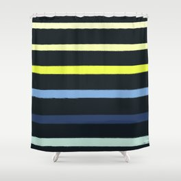 Classic Stripe - Navy, Neon, Fluro, Blue, Girly Trendy Cell Phone Case Shower Curtain