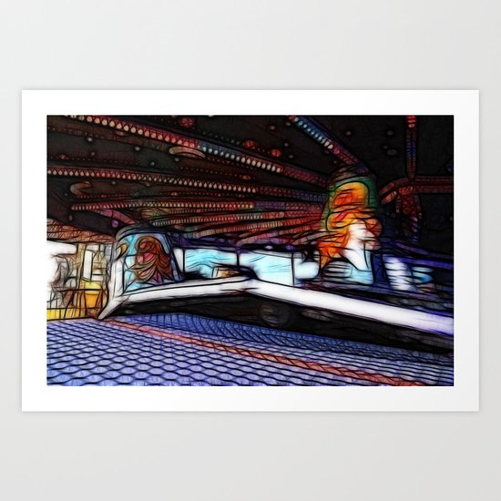 Ride on time! Art Print