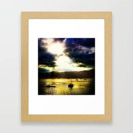 Conwy Sunset Framed Art Print