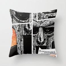 MF Doom Throw Pillow