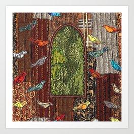 In the birdhouse Art Print