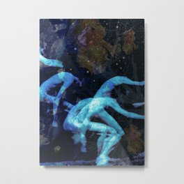Jumping men Metal Print
