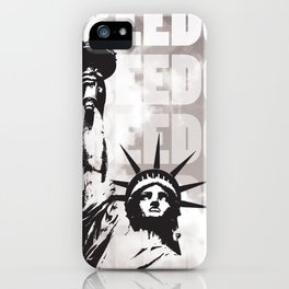 Freedom - White iPhone Case