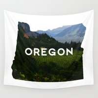 oregon Wall Tapestries featuring Oregon by Hillary Murphy