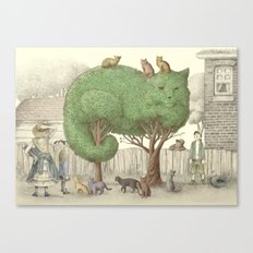The Night Gardener - The Cat Tree Canvas Print