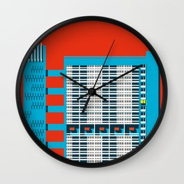 Balfron Tower, Brutalist London Art Print Wall Clock