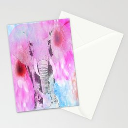 ELEPHANT and DASIES Stationery Cards