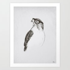 Hawk with Poor Eyesight Art Print