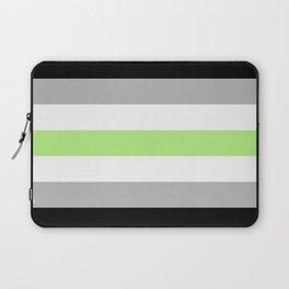 Agender Pride Flag Laptop Sleeve