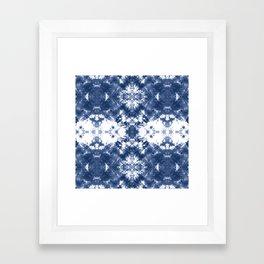 Shibori Tie Dye 4 Indigo Blue Framed Art Print