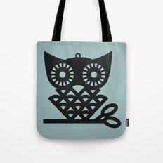 Blue Hoot Tote Bag