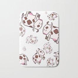 Pixel art cows Bath Mat