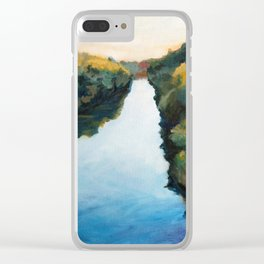River and Forest in Fall Clear iPhone Case