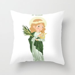 St. Cecilia Throw Pillow