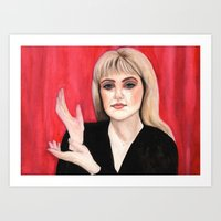 laura palmer Art Prints featuring Twin Peaks: Laura Palmer by Amarie Fox