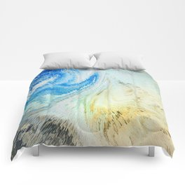 Swirling Flirtatious Abstract Happiness Comforters