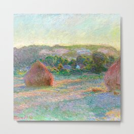 Stacks of Wheat (End of Summer) - Claude Monet Metal Print