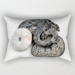 Jade Black And White Rectangular Pillow