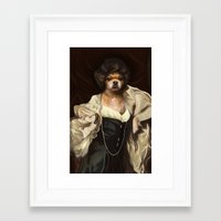 karu kara Framed Art Prints featuring Ruffs and Collars - Kara by LiseRichardson