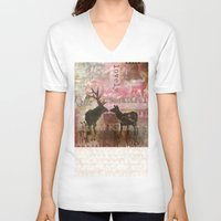 hello beautiful V-neck T-shirts featuring Hello Beautiful by Sarah Shines -ART