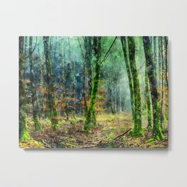 Nature Forest Art Metal Print