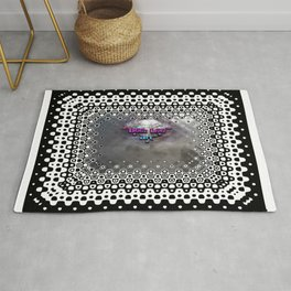 """Beez Lee Art : Foggy Square Point of View"" Rug"